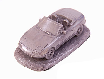 Mazda MX5 Mk1 Pewter Effect 1/92 Scale Model, LHD