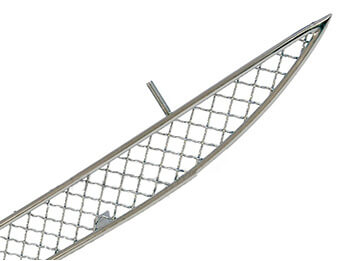 Stainless Steel Rear Diffuser Woven Mesh Grille, Mk3