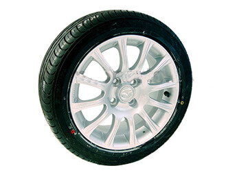 "15"" Genuine Mazda Alloy Wheel & Tyre Package, Mk1/2/2.5"