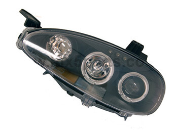 Headlamp Set, Black With Angel Eye, MX5 Mk2.5 2000>2005