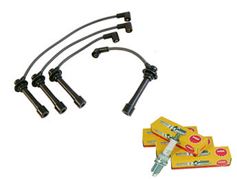 High Volt 7.0mm Ignition Leads & FREE Spark Plugs