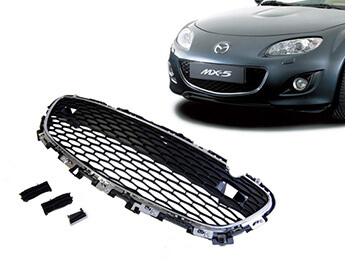 Front Bumper Grille Upgrade Kit, Chrome Surround, MX5 Mk3.5