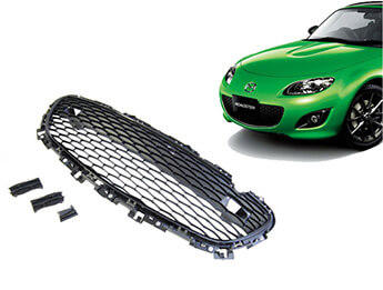 Front Bumper Grille Upgrade Kit, Sport Black, MX5 Mk3.5