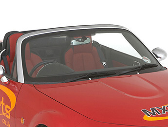Chrome Windscreen Surround, Complete Kit, MX5 Mk3/3.5/3.75
