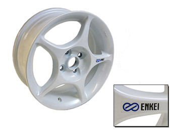 "15"" Genuine Mazda \""Enkei\"" Alloy Wheel, White"