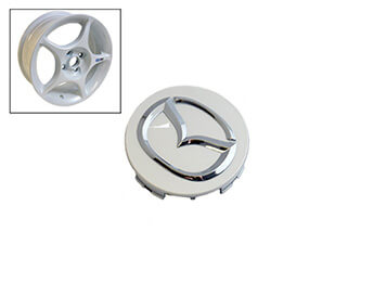 Alloy Wheel Centre Cap, White Enkei, MX5 Mk1/2/2.5