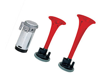 12V Stebel GP2 Air Horns, Red