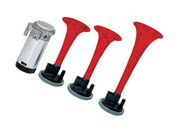 12V Stebel GP3 Air Horns, Red