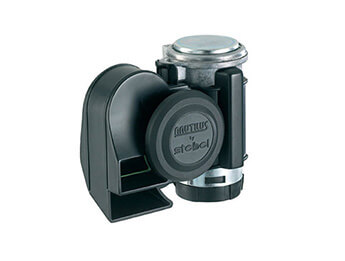 12V Stebel Nautilus Compact Air Horn, Black