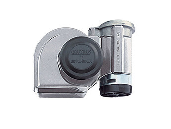 24V Stebel Nautilus Compact Air Horn, Chrome