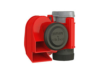 12V Stebel Nautilus Compact Air Horn, Red