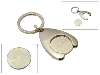 MX5 Keyring With Trolley Coin