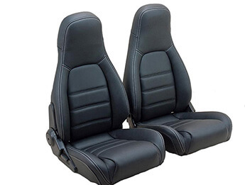Leather Seat Cover Set, Silver Stitching, MX5 Mk1