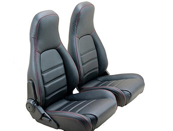 Leather Seat Cover Set, Red Stitching, MX5 Mk1