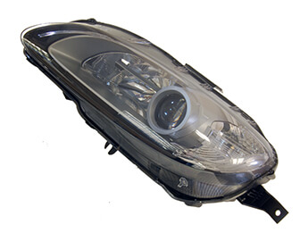 Headlamp, HID With Silver Bezel, LHD MX5 Mk3.5