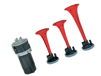12V Stebel BP3 Air Horns, Red