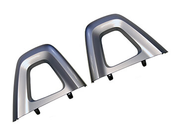 Silver Seat Back Bar Covers, Genuine Mazda, MX5 Mk4