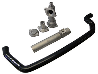 Coolant Reroute Kit, Black, MX5 Mk1 1.6