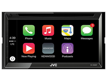 JVC KW-V820BT Touch Screen Double Din Stereo With Apple Car Play