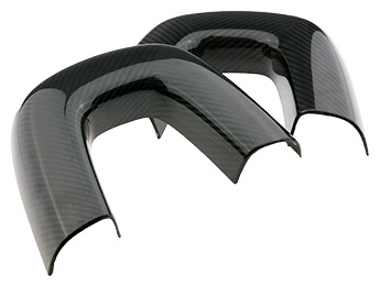 Seat Back Bar Covers, Carbon Fibre, MX5 Mk3/3.5/3.75