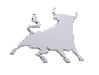Chrome Fighting Bull Badge, All MX5 Models