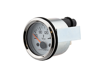 Oil Temperature Gauge with White Face & Chrome Rim, Mk1/2/2.5