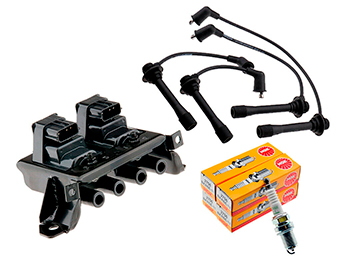 Ignition Leads, Plugs & 3 Pin Coil Pack Kit, Mk2 1.8