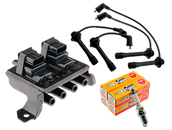 Ignition Leads, Plugs & 3 Pin Coil Pack Kit, Mk1 1.8