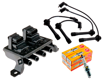 Ignition Leads, Plugs & 4 Pin Coil Pack Kit, Mk1 1.8