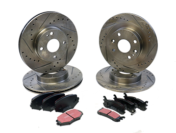 Discs & Pads Package, Sports, MX5 Mk1 1.8 & Mk2/2.5 Std Brake