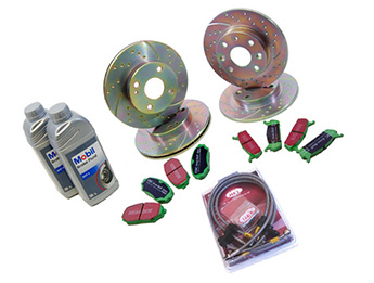 Discs & Pads Package, Ultimate Sports, Mk2/2.5 Standard Brake