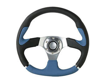 Indy Leather Steering Wheel, Blue & Black, MX5 Mk1