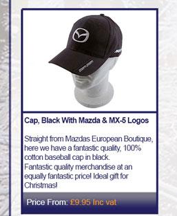 Cap, Black With Mazda & MX-5 Logos