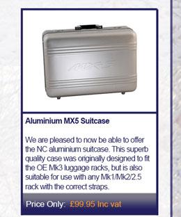 Aluminium MX5 Suitcase
