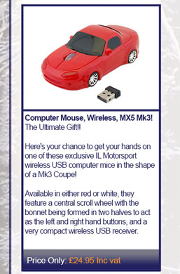 Computer Mouse, Wireless, MX5 Mk3!