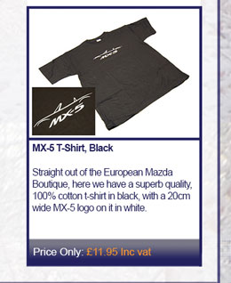MX-5 T-Shirt, Black