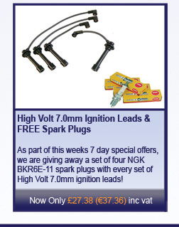 High Volt 7.0mm Ignition Leads and FREE Spark Plugs