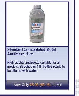Standard Concentated Mobil Antifreeze, 1Ltr