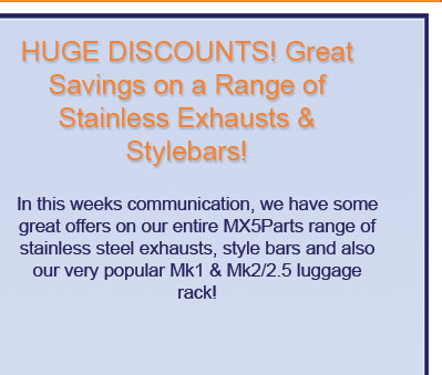 mx5 parts supply just about every part imaginable for your Mazda mx-5 or eunos roadster