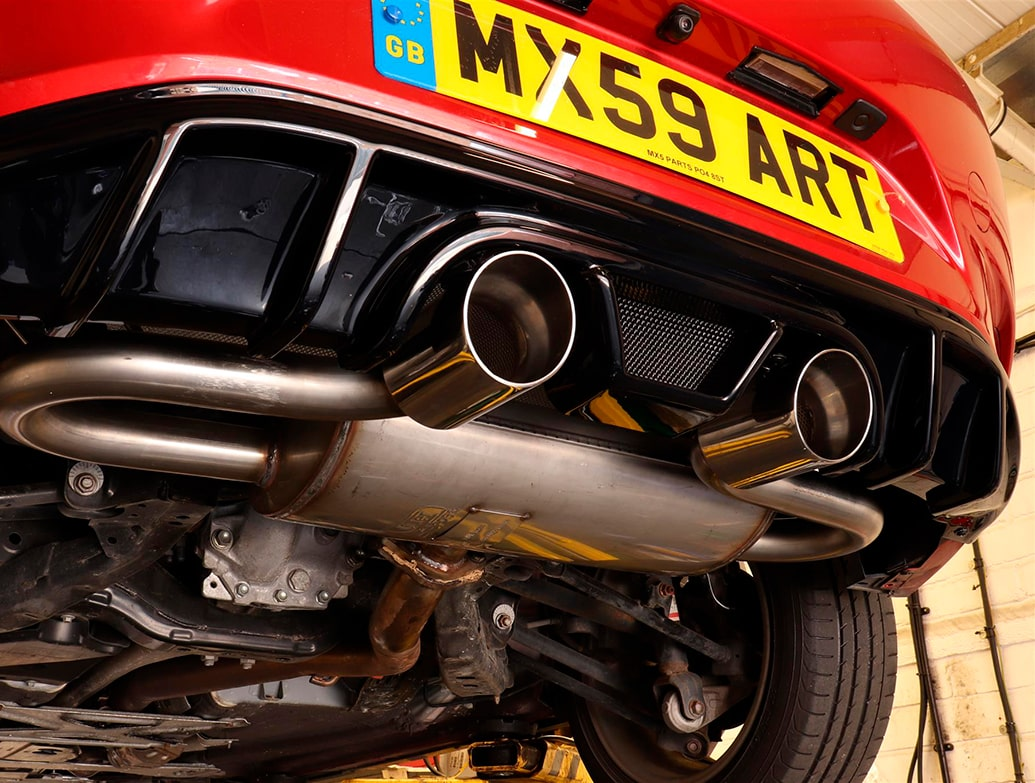 The MX5parts MK4 Dual Exit Centre Exhaust